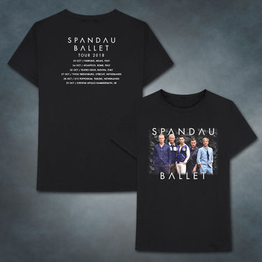 Spandau Ballet: 2018 Dark Grey 2018 Tour T-Shirt