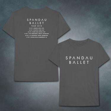 Spandau Ballet: 2018 Charcoal Logo 2018 Tour T-Shirt