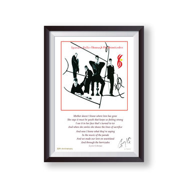 Spandau Ballet: Through The Barricades Anniversary Signed Lyric Lithograph