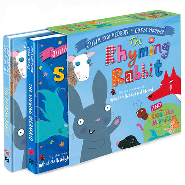 Julia Donaldson: The Singing Mermaid and The Rhyming Rabbit board book gift slipcase