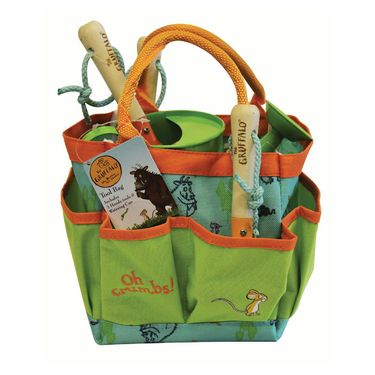 The Gruffalo: Gruffalo Garden Tool Bag with 3 Hand Tools & Watering Can