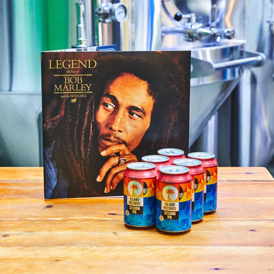 Bob Marley and The Wailers: Legend Vinyl + Island Records Session IPA 6 pack