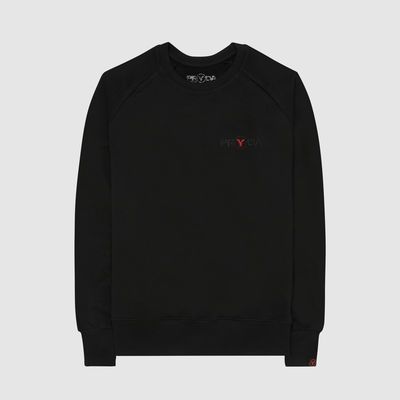 Eric Prydz: Pryda Logo 'Black on Black' Embroidered Sweatshirt (Red Y)