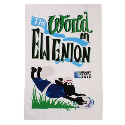 Shaun the Sheep: RWC 2015 World In Ewenion Tea Towel
