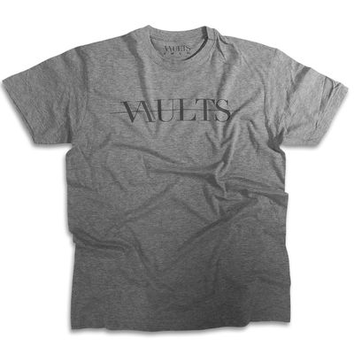 Vaults: Mens Grey Logo T-Shirt