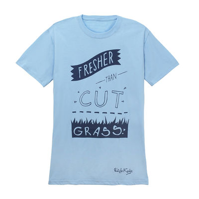 Rizzle Kicks: FRESHER THAN CUT GRASS T-SHIRT BLUE (MENS)