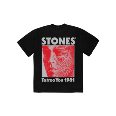 The Rolling Stones: Tattoo You 40th Anniversary Black T-shirt