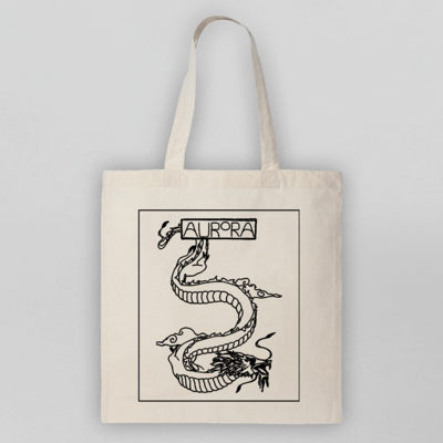 aurora: AURORA dragon drawing tote
