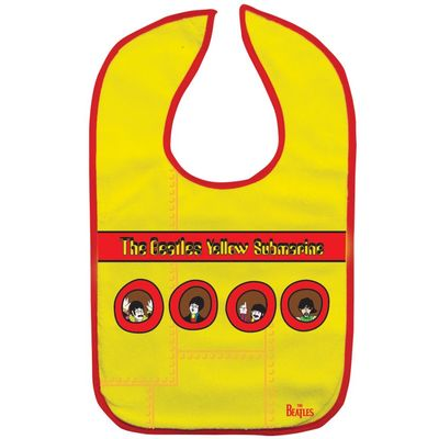 The Beatles: Yellow Submarine Portholes Bib Yellow/Red Trim