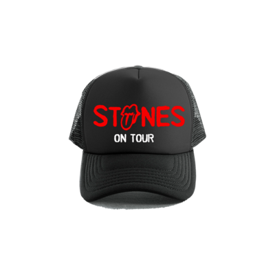 The Rolling Stones: Stones On Tour Black Trucker Hat