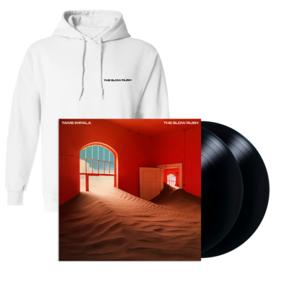 Tame Impala: THE SLOW RUSH EXCLUSIVE WHITE HOODIE + BLACK VINYL