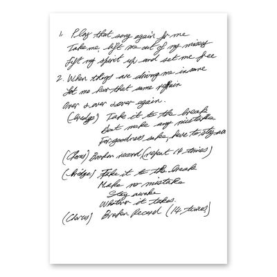 Van Morrison: Lyric Sheet