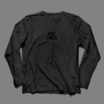 Bad Child: Bad Child - Logo Tee Medium (Black)
