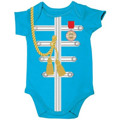 The Beatles: Sgt Pepper Uniform Baby Body Suit Blue