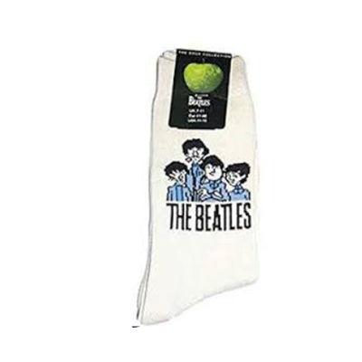The Beatles: Cartoon Mens Cream Socks