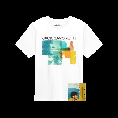 Jack Savoretti: Cassette & WHW White TEE - Signed