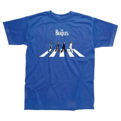 The Beatles: Abbey Road Characters Childrens T-Shirt Royal Blue