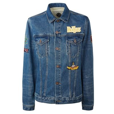 The Beatles: Blue Badge Denim Jacket