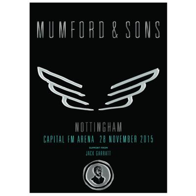 Mumford & Sons : Nottingham, UK, 2015 Show Screen Print