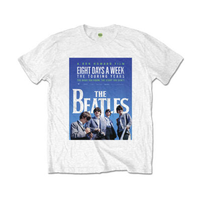 The Beatles: 8 Days A Week Movie Poster Men's White T-Shirt