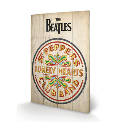 The Beatles: The Beatles Sgt Peppers Wooden Print