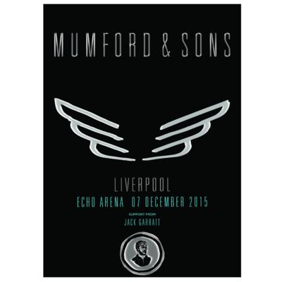 Mumford & Sons : Liverpool, UK, 2015 Show Screen Print