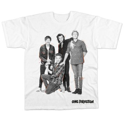 One Direction: On the Road Again Tour 2015 White T-Shirt