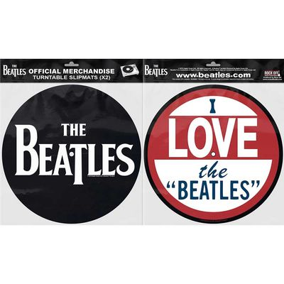 The Beatles: Turntable Slipmat Set: Drop T Logo & Love