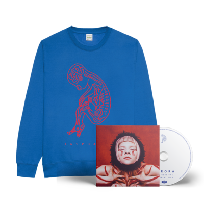 aurora: Infections of A Different Kind SIGNED CD & Sweatshirt Bundle (BLUE)