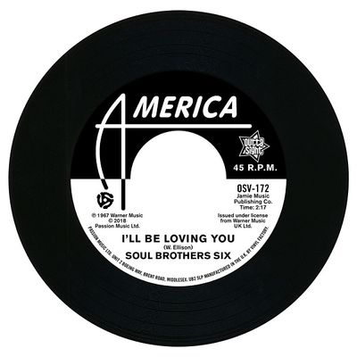 Soul Bros. Six: I'll Be Loving You / Walkin' Up A One Way Street