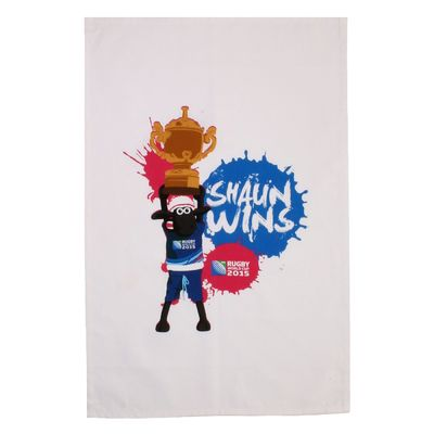 Shaun the Sheep: RWC 2015 Shaun Wins Tea Towel