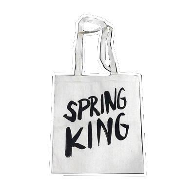 Spring King: Logo Tote Bag (White)
