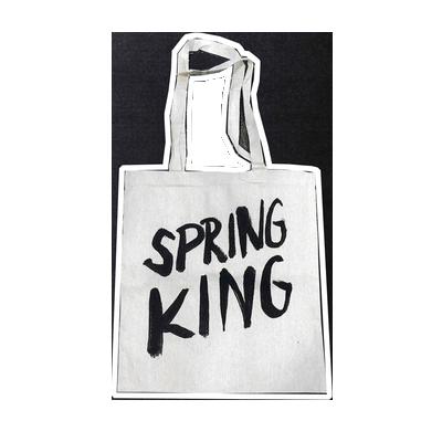 Spring King: Logo Tote Bag (White)