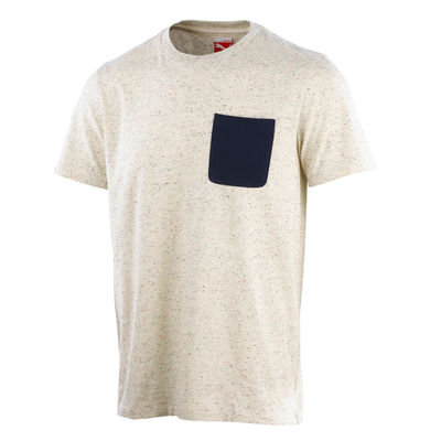 Professor Green: Contrast Pocket T-shirt Turtledove - Peacoat