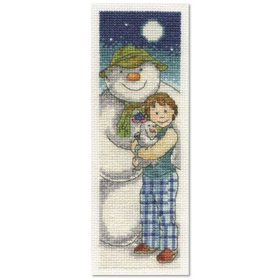 The Snowman: The Snowman and The Snowdog Cross Stitch Kit - In the Moonlight Bookmark