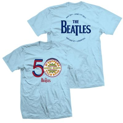 The Beatles: Men's Blue 50th Anniversary Sgt. Pepper T-shirt