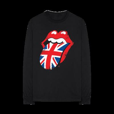 The Rolling Stones: Union Jack Distressed Tongue Crewneck