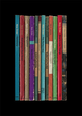 New Order: 'Substance' Album As Books Art Print