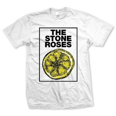 The Stone Roses: Framed Lemon White T-shirt