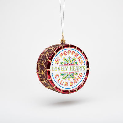Abbey Road Studios: The Beatles Sgt. Pepper's Drum Christmas Glass Ornament