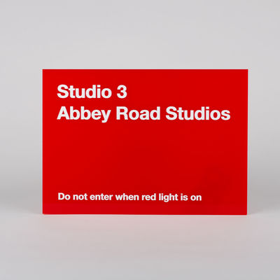 Abbey Road Studios: Studio Three Replica Red Perspex Sign