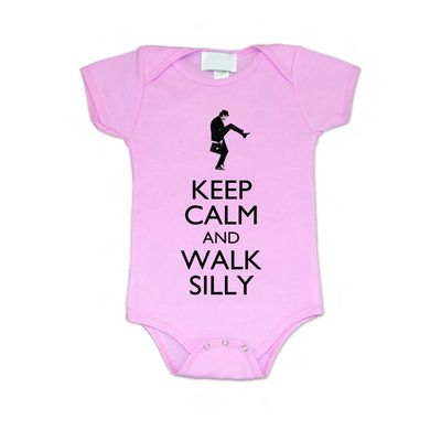 Monty Python: Walk Silly Pink Baby Grow