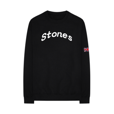 The Rolling Stones: Union Jack Crew Neck Sweatshirt
