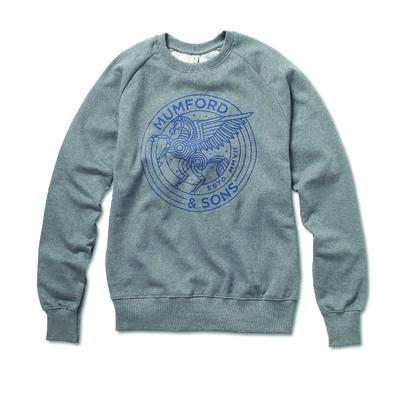 Mumford & Sons : Pegasus Raglan Sweatshirt (Dark Heather)