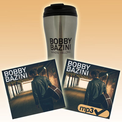 Bobby Bazini: Where I Belong (CD) + Download (MP3) + Travel Mug