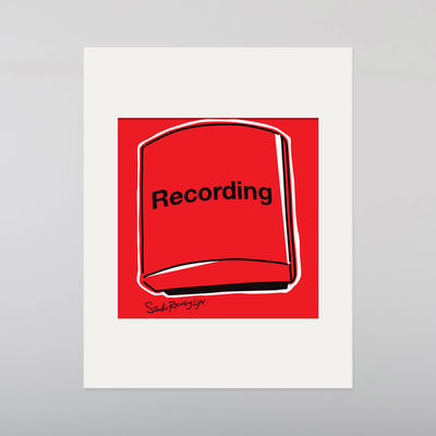 Abbey Road Studios: Abbey Road Red Recording Light Print