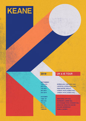 Keane: UK / IE 2019 Tour Poster