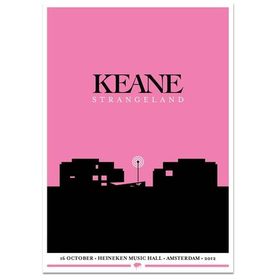 Keane: Strangeland Tour Series Screen Print: Europe - Ljubljana
