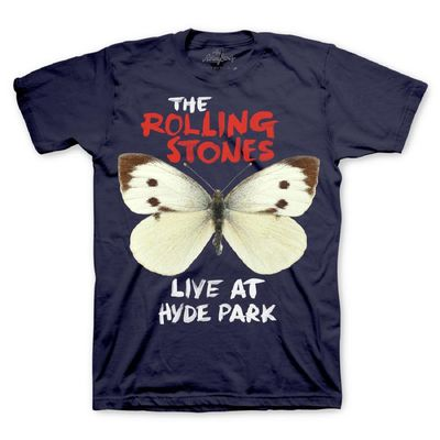 The Rolling Stones: Butterfly T-Shirt Blue