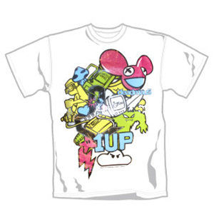 Deadmau5: Deadmau5 1 UP Design on White T-Shirt